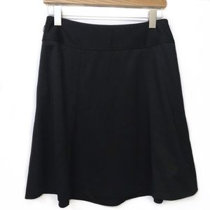 Ann Taylor 6P black A-line skirt